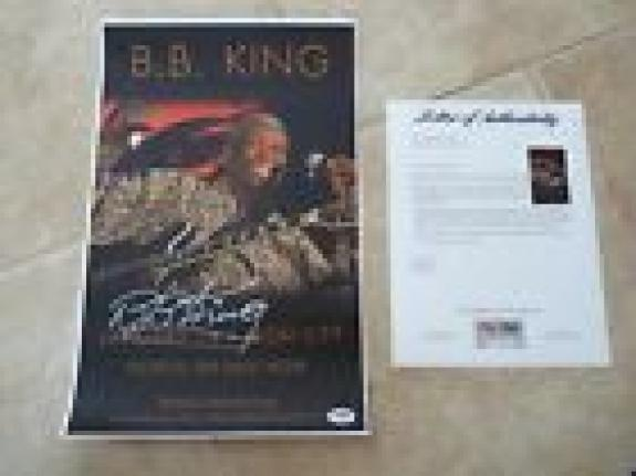 BB King 11x17 Tour Poster Signed Autographed PSA Certified Blues Great