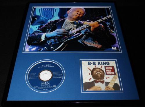 BB King 16x20 Signed Framed Got My Mojo Working CD & Photo Display