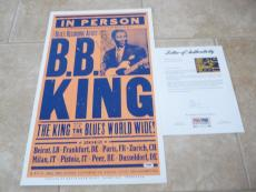 BB King 2012 Blues Signed Autographed 14x22 Concert Poster PSA Certified #1