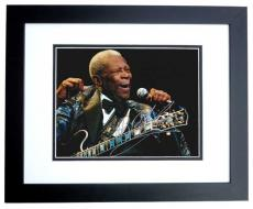 BB King Autographed Concert 8x10 Photo BLACK CUSTOM FRAME