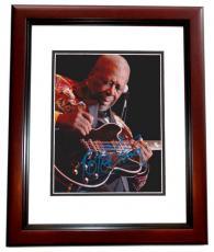 BB King Autographed Concert 8x10 Photo MAHOGANY CUSTOM FRAME