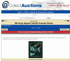 B.B. King Autographed Signed 16x20 Framed Photo PreCert PSA/DNA