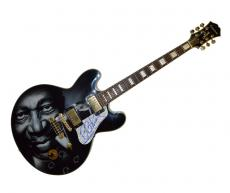 B.B. King Autograph Signed Gibson Epiphone Lucille Guitar PSA AFTAL