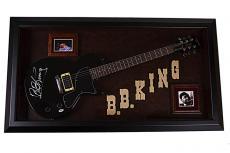 B.B. King Autographed Signed Guitar & Custom Display Case PSA AFTAL