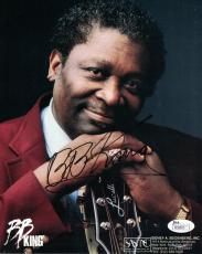 Bb King Autographed/signed 8x10 Photo Blues/musician Riley King 19891 Jsa