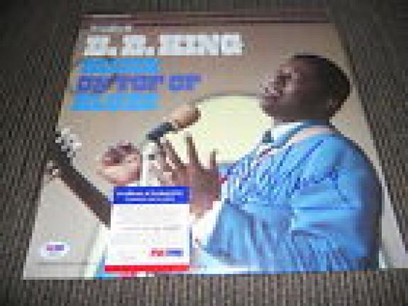 BB King Blues IP Signed Autograph Blues On Top Of Blues Album  LP PSA Certified