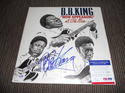 BB King Blues IP Signed Autographed Now Appearing At Ole Miss LP PSA Certified