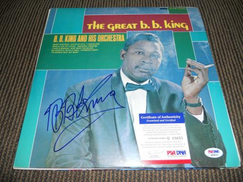 BB King Blues IP Signed Autographed The Great BB King Album  LP PSA Certified