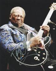 B.b. King Blues Legend Signed 11x14 Photo Autographed Jsa #e14148