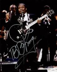 B.b. King Blues Legend Signed 11x14 Photo Autographed Jsa #f77473