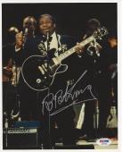 B.B. KING (Blues Legend) Signed 8 x 10 PHOTO with PSA LOA & Graded 10