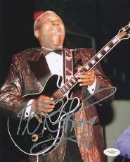 B.b. King Blues Legend Signed 8x10 Photo Autographed Jsa #e46291