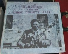 B.b. King Blues Legend Signed Autographed Live In Cook County Jail Album W/coa