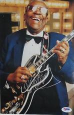 B.B. KING Blues Legend Signed Color PHOTO BB Blues w/ PSA DNA COA