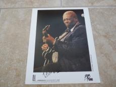 BB King Blues Signed Autographed 8x10 Live Concert Photo PSA Guaranteed #2