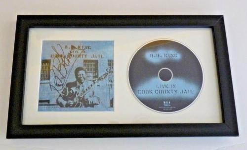 BB King Cook County Jail Signed Autographed Framed CD Display BAS Certified