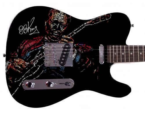B.B. King  Facsimile Signature Custom Graphics Guitar