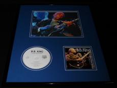 BB King Framed 16x20 Everyday I Have the Blues CD & Photo Display