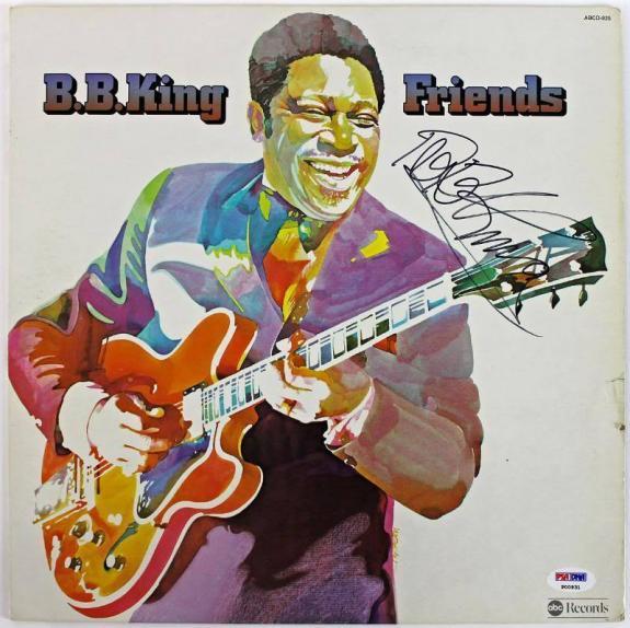 B.B. King Friends Signed Album Cover W/ Vinyl PSA/DNA #P00931