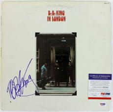 B.b. King In London Signed Album Cover W/ Vinyl Psa/dna #j01163