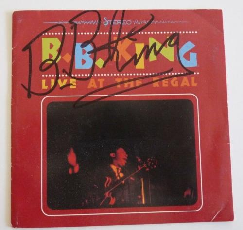 BB King Live At The Regal Signed Autographed CD Cover PSA & BAS Guaranteed READ