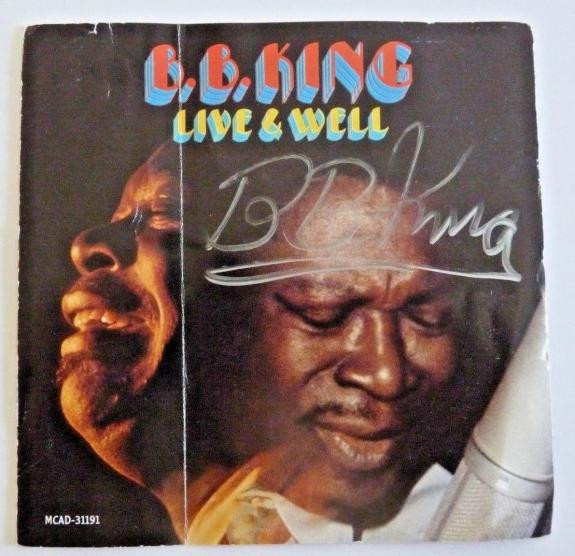 BB King Live & Well Signed Autographed CD Cover PSA & BAS Guaranteed READ