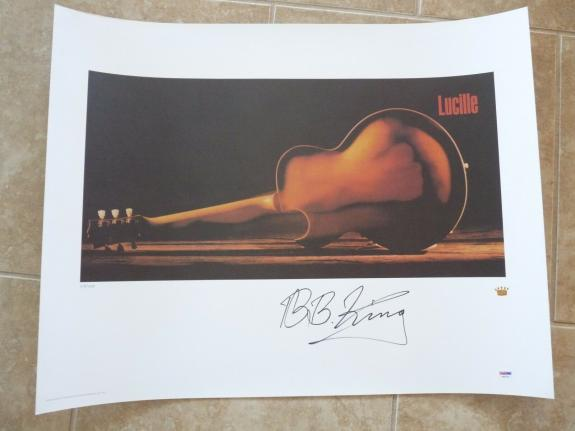 BB King Lucille Signed Autographed Lithograph Poster PSA Certified # of 750