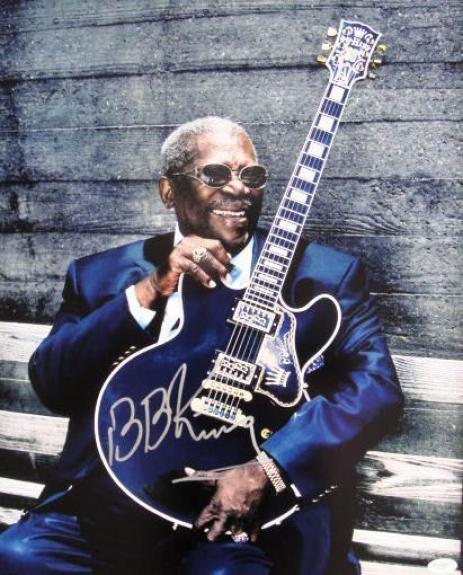 BB KIng Lucille Signed RARE 16x20 Autographed Photo JSA