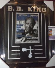 Bb King Music Legend Jsa Coa Signed Entertainment Magazine Cover Matted Framed