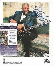 Bb King Music Legend Signed Autographed 8x10 Promo Photo Jsa Coa Authentic Rare