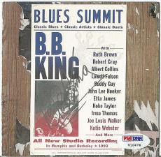 Bb King Music Legend Psa/dna Loa Signed Autographed Blues Summit Cd Cover Rare