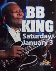 "Bb King Music Legend Signed Auto 22x28 ""star Of The Desert"" Poster Psa/dna Loa"