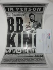 Bb King Music Legend Psa/dna Signed Autograph North America Tour 14x22 Poster B