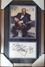 Bb King Music Legend Psa/dna Signed Double Matted Framed Autograph 8x10 Photo