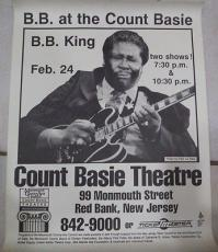 Bb King Music Legend Signed 22x17 Concert Poster Count Basie Theater W/coa Rare