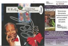 "Bb King Music Legend Signed ""a Christmas Celebration Of Hope"" Cd Cover Jsa Coa"