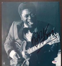 Bb King Music Legend Signed Autograph 10x10 Magazine Page Authentic Psa/dna Loa