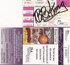 Bb King Music Legend Jsa Coa Signed 1993 Music Festival Original Ticket A Rare