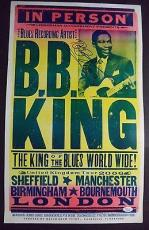 Bb King Music Legend Signed Autograph 2006 London Tour 14x22 Poster Jsa Loa Rare