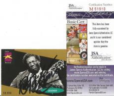 Bb King Music Legend Signed Autographed 1991 Proset Super Stars Card Jsa Coa A