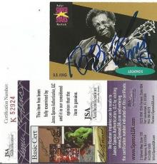 Bb King Music Legend Signed Autographed 1991 Proset Super Stars Card Jsa Coa