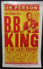 Bb King Music Legend Signed Autographed 1997 Tour 14x22 Poster Authentic Jsa Loa