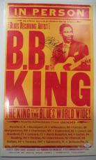 Bb King Music Legend Jsa Loa Signed 2000 North America Tour 14x22 Poster