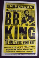 Bb King Music Legend Signed Autographed 2002 Tour 14x22 Poster Jsa Loa Rare