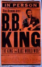 B.B. King Autographed Photo - Bb Music Legend 2008 North America Tour 14x22 Poster Coa