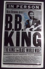 Bb King Music Legend Signed Autographed 2009 Tour 14x22 Poster Jsa Loa Rare