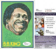 "Bb King Music Legend Signed Autographed 4x6 ""autograph Card"" Jsa Coa Rare Real!!"