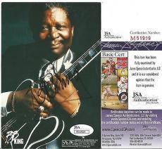 Bb King Music Legend Signed Autographed 4x6 Photo Jsa Coa Authentic Rare