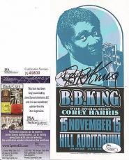 Bb King Music Legend Signed Autographed 4x8 1996 Nov 15 Mini Poster Jsa Coa B