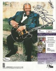 Bb King Music Legend Signed Autographed 2004 8x10 Promo Photo Jsa Coa Rare